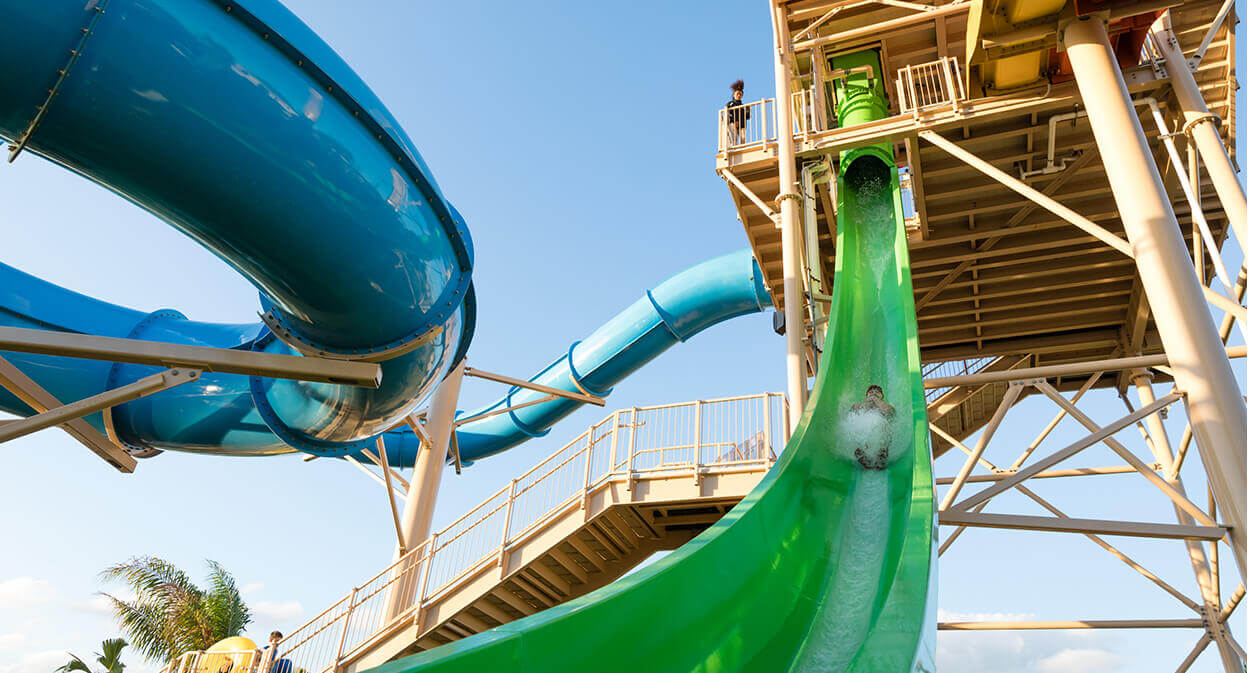 Stormchaser water slide at the Encore Resort Water Park.