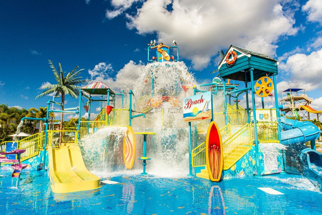 The water park at Encore Resort at Reunion.
